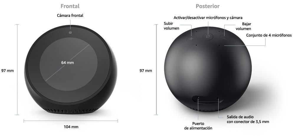 Análisis del Altavoz Inteligente Amazon Echo Spot, Amazon Echo Spot, Precio del Alexa Spot de Amazon,