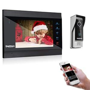 TMEZON 7 Pulgadas WiFi Inteligente IP Video Sistema de intercomunicación de teléfono