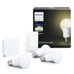 comprar iluminación inteligente, luz domotica, bombillas led, kit luminación, philips hue, domoticas store, iluminación exterior, iluminación de interior, iluminacion navidad