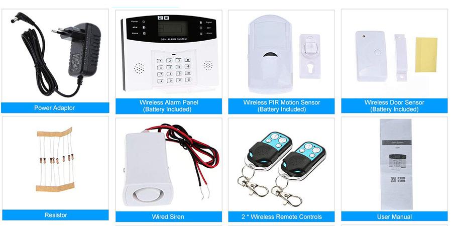kit alarma hogar wifi, sistema de alarmas para casas, alarma virtual, kit alarma hogar, alarma laptop, alarmas inteligentes, owsoo domótica, kit seguridad owsoo, Alarmas Hogar OWSOO 433MHz